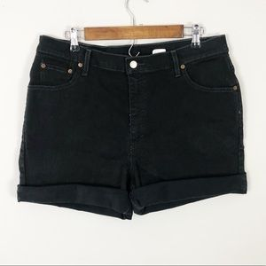 Vintage High Rise black Levi's shorts
